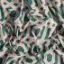 Cotton green/rose graphic print