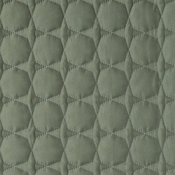 Quilt green microfiber w hexagon