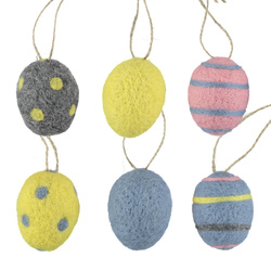 Kit felt eggs 6pcs multi set