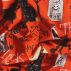 Baumwolle, Orange mit Halloweenprint