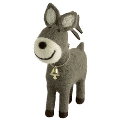 Kit felt reindeer with a bell 190mm 1pc