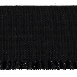 Ruffle elastic 60mm black 0,8m