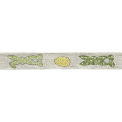 Deco ribbon 15mm hare nature/green 3m