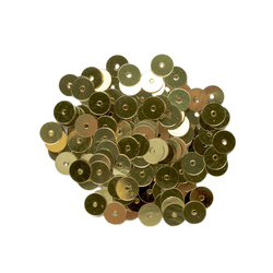 Sequins 6 mm gold 10g