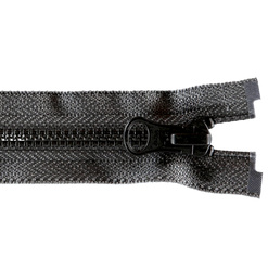 YKK zip 4mm open end black/grey