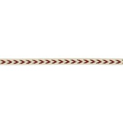 Ribbon woven 7mm nature/rouge 3m