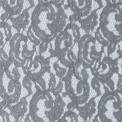Lace solid grey w dull silver foil
