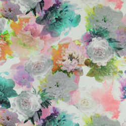 Woven viscose digitale flower print