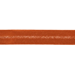 Bias tape cotton 18mm orange 25m