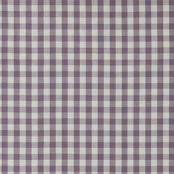 Cotton yarn dyed plum/white check