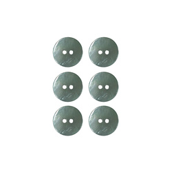 Button 2-holes pearl 15mm mint 6pcs