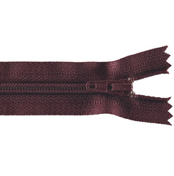 YKK glidelås 4mm spiral bordeaux