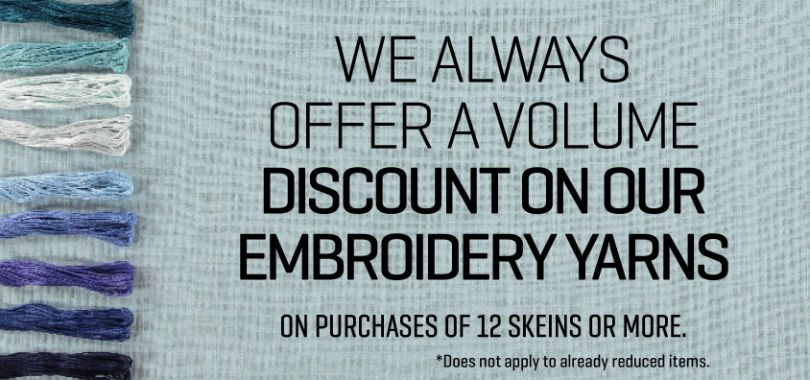 Discount on embroidery yarn