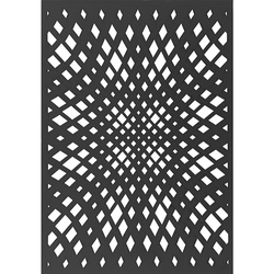 Plastic stencil diamonds 21x29,7cm 1pcs