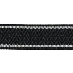 Webbing ribbon nylon 38mm black/white 5m