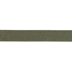 Straight cut tape stretch 20mm olive 3m