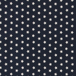 Woven cotton navy with white stars