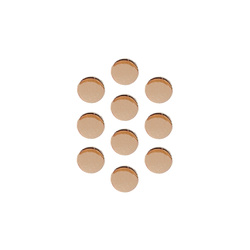Shank button metal 9mm shiny gold 6pcs