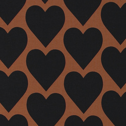 Stretch jersey chestnut brown with heart