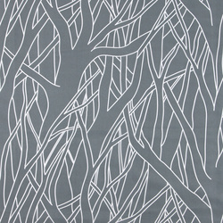 Shower curtain grey w white branches