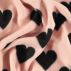 Polar fleece powder with hearts