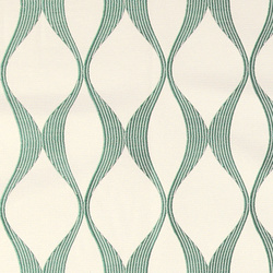 Jacquard cream with light petrol pattern