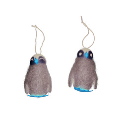 Kit wool penguins 10cm grey 2 pcs
