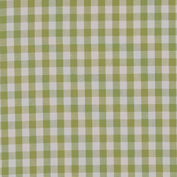 Cotton yarn dyed green/white check