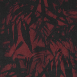 Woven viscose dusty dark red w leafs
