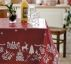 Non-woven oil cloth red w white X-mas