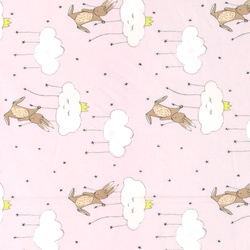 Cotton rose w princess rabbit and clouds