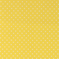 Woven oilcloth yellow w white dot